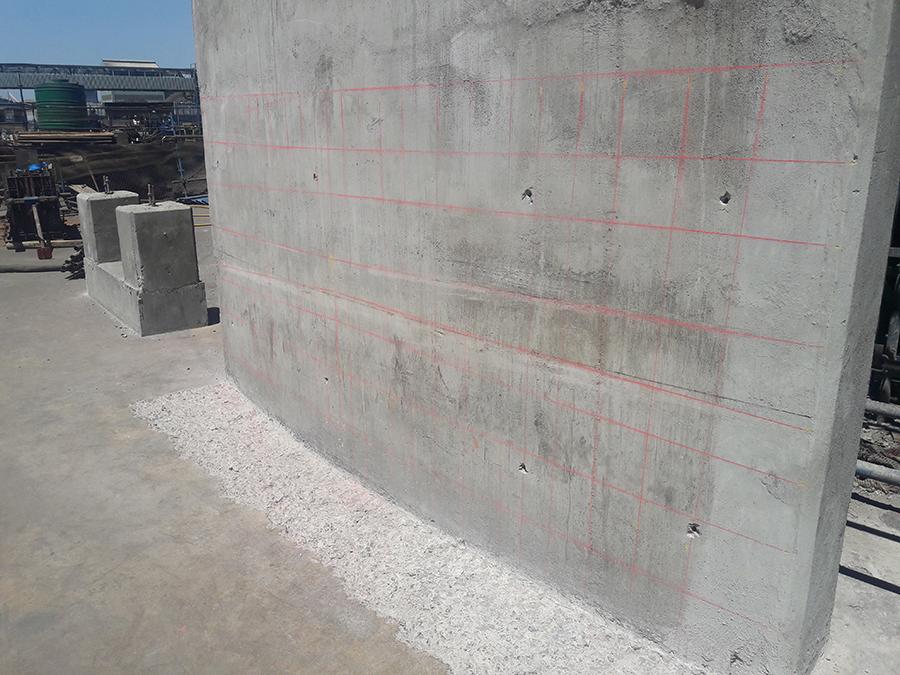Process of concrete scanning